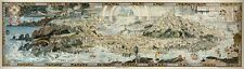 "MP23 Vintage Huge 1920's Map Of Fairyland Mythical Fantasy Poster Print 17""x60"""