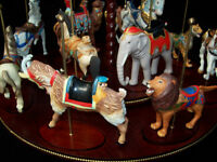 FRANKLIN MINT TREASURY OF CAROUSEL ART 1988 SET OF 12 ANIMALS NIB