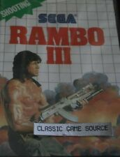 NEW Sealed Rambo III  3 Game for Sega Master system SMS