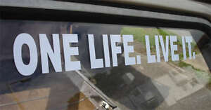 Giant !!  ONE LIFE. LIVE IT. Sticker for LandRover Defender 4x4 Landy Land Rover
