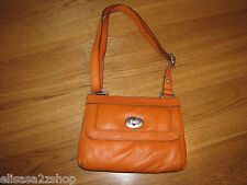 Fossil ZB5559830 Marlow Top Zip Light Orange Leather purse NWT 148.00*^