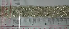 Rhinestone Trimming Fringe Sew on with glass beads rhinestone, wedding prom 1yd