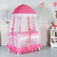 Portable Baby Infant Cot Bed Diaper Changer Mosquito Net Toy Storage Playpen
