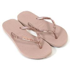 Havaianas Womens Sandals Spider Slip On Rubber Flip Flop Rose Gold 39/40
