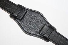 KHS Ersatzarmbänder Lederband G-Pad Uhrenarmband Schwarz Größe 22, KHS.EBR1.22