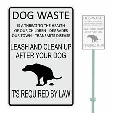 "DOG WASTE IS A THREAT TO THE HEALTH OF OUR HEAVY DUTY ALUMINUM SIGN 10"" x 15"""