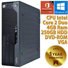 PC COMPUTER DESKTOP RICONDIZIONATO FUJITSU DUAL CORE 4GB HDD 250 WIN 10 OFFICE