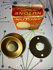Vintage Mid Century Nutone Classic Lite Gold Doorbell 2� Round Mcm Pb-14L Nice!