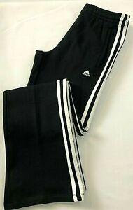ADIDAS 3 Stripes Boys Junior Fleece Jogging Pant Black Age 12-14 Years No Tags