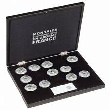 Coffret noir pour 15 pièces de 10 euros argent Monnaie de Paris.