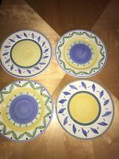 "4 WILLIAMS SONOMA TOURNESOL 11.25"" Dinner Plates Italy Mint"