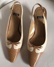 Stuart Weitzman Pumps Schuhe Hellbeige/Dunkelbeige EUR Größe 37 size US 6 UK 4