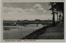 AK Ostseebad Deep b. Treptow (Mrzeżyno) - Brücke nach West Deep