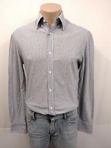BRUNELLO CUCINELLI Slim Fit Hemd Gr.M KW39 Button-Down Kragen Blau Weiß Streifen