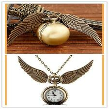 Pendant Necklace Steampunk Quidditch Wings Harry Potter Snitch Pocket Watch G;