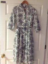 Vintage 50s Mode O'Day Button Down Retro Garden Floral Swing Dress + Belt *Rare*