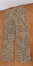 Judith Hart Petites Womens Animal Print Slacks Pants Sz 6P Gold Brown Str Leg