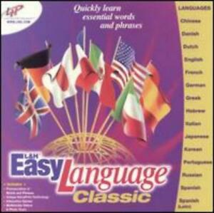 L&H Easy Language Classic PC CD Chinese English Spanish French German Japanese +