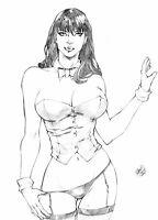 Zatanna Original Art by Marcio Doug 11.7 x 16.5 A3 Paper fits A3 Frames