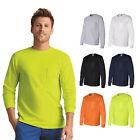 Gildan Mens Ultra Cotton Long Sleeve T-Shirt with a Pocket S-5XL - 2410