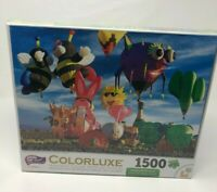 Colorluxe Puzzle Funky Shapes Hot Air Balloons 1500 pc Mike Jones Brand NEW