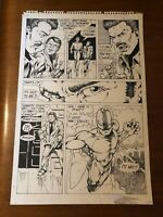 DALE KEOWN of HULK PITT original art RARE EARLY WORK SUPERHERO large 1980's