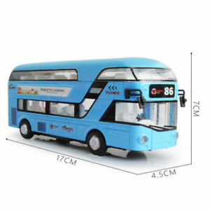 Kids Toy Cars Double-Decker Vehicle Bus Sound & light Pull Back Birthday Gift