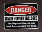 DANGER Black Powder Enclosed Warning Vinyl Sticker Decal Safe Security Burglars