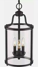 Golden Lighting Payton BLK 1157-3P Foyer Pendant Ceiling Light - 3 Light
