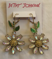 Women's Betsey Johnson Daisy Flower Dangle Drop Earrings