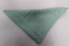 5 X Light Green Striped Neckerchief Bandana Neck Scarf Triangle Workwear Party