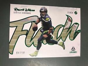 Russell Wilson 2021 Luminance Flash Green Insert #4/10 Seattle Seahawks A23