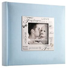 Baby Photo Album Boy 200 Pocket Blue Picture Memory Book Organizer Newborn Gift