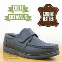 DEK Bowls Unisex Leather Lawn Bowls Trainers Grey Comfort Men's & Women's Shoes