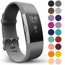 FOR Fitbit CHARGE 2 Replacement Silicone Rubber Band Strap Wristband Bracelet UK