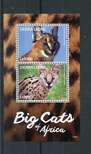 Sierra Leone 2015 MNH Big Cats of Africa 2v S/S I Wild Animals Caracal Stamps