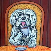 havanese coffee picture dog art tile ceramic animal coaster gift