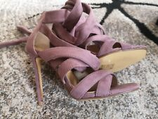 Missguided Purple Heels Party Prom Shoes UK 5 Faux Suede