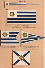 URUGUAY FLAGS. Pendant. Ensign & Merchant Flag. Senior officer. Jack 1916