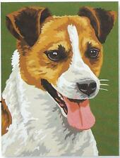 FOX TERRIER NEEDLEPOINT TAP. COTTON  KIT  - 30 x 40 cm!   SPECIAL FREE POST