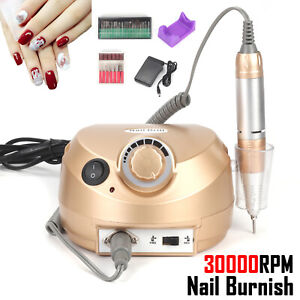 30000rpm Pro Electric Nail Drill Machine File Drill Bits Pedicure Manicure Kits
