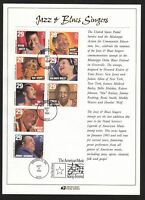 1994 Blues & Jazz Legends FDC Sc 2854-61 limited Program issued at event