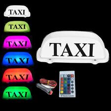New RGB Taxi Top Light car  dome light 12V with 3M Cigarette lighter plug line