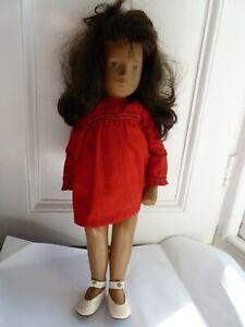 1970's Plastic Sasha Doll With Dark Brown Hair & Original Clothing