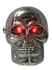 Pomello per cambio auto cromato con led rossi universale Skull Red Eyes