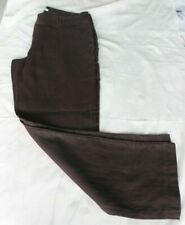 Pantalon fluide marron chocolat 100 % lin taille 40 marque Phildar
