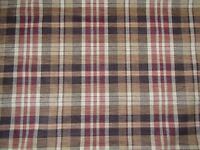 ZOFFANY CURTAIN/UPHOLSTERY FABRIC DESIGN Ducato Plaid 1.6 METRES CHENILLE WEAVE