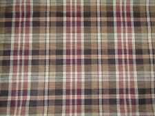 ZOFFANY CURTAIN/UPHOLSTERY FABRIC DESIGN Ducato Plaid 1.4 METRES CHENILLE WEAVE