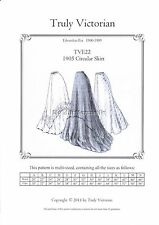 Sewing Pattern for Edwardian 1905 Circular skirt Truly Victorian TVE22