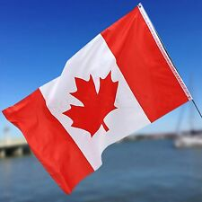 Large Canadian Flag Canada Maple Leaf Banner  5X3FT Eyelets For Outdoor Hanging